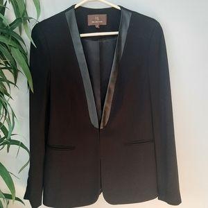 Melanie Lyne black blazer with faux leather